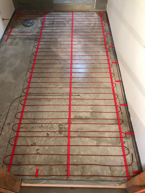 Floor Heat Installation